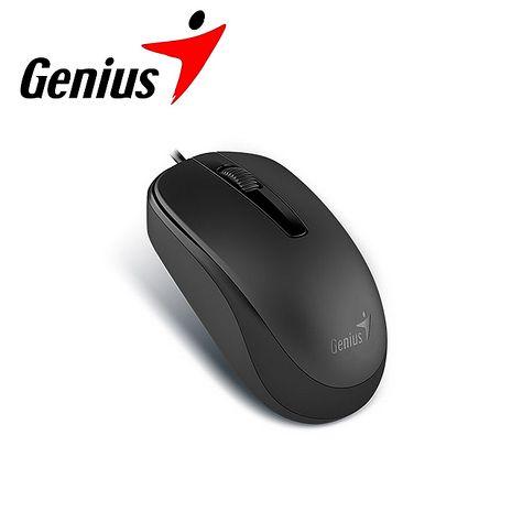 任選 Genius 昆盈 DX-120 有線滑鼠-寧靜黑 (DX-120-BK)