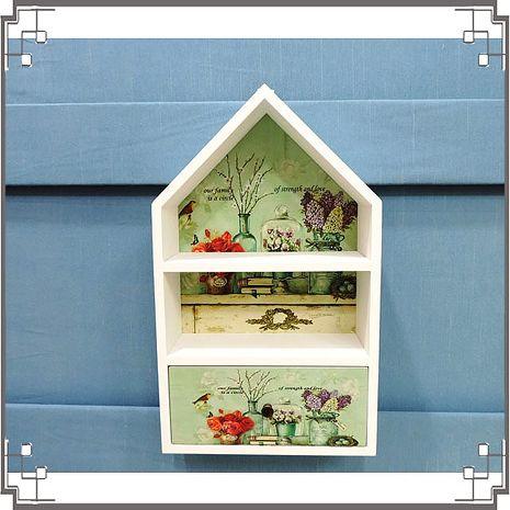 【妙妙家居】↙特價 ↘ 洗白屋型置物櫃《WH7》日式鄉村風木製壁櫃 兩用收納櫃 桌上型置物櫃 居家布置