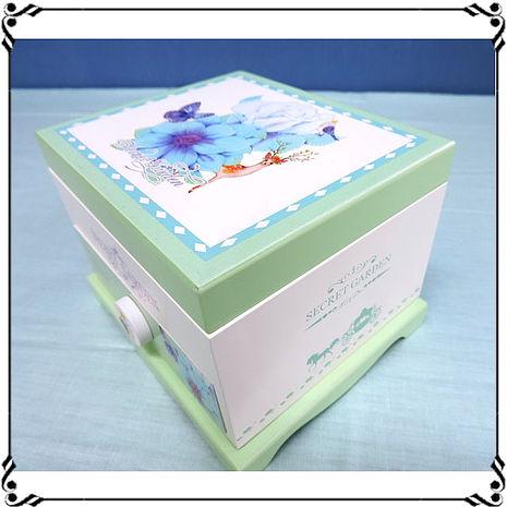 【妙妙家居】音樂首飾盒《WD3》鳥語花香首飾盒 小花音樂盒 鄉村風珠寶盒 小物收納 送禮