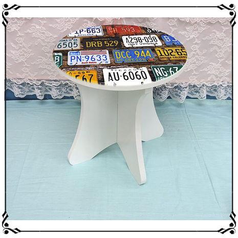 【妙妙家居】木製小椅子《WA19》工業風 彩色車牌小圓凳 小凳子 木製座椅 木凳 穿鞋椅 露營椅 兒童椅