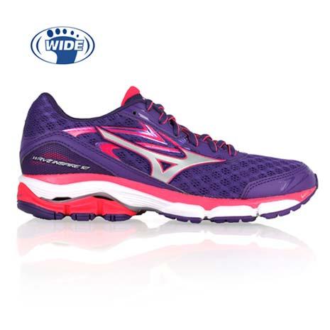 【MIZUNO】WAVE INSPIRE 12 女慢跑鞋- 路跑 寬楦 紫亮桃紅