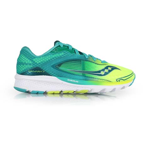 【SAUCONY】KINVARA 7 女自然系列慢跑鞋- 路跑 湖水綠螢光黃