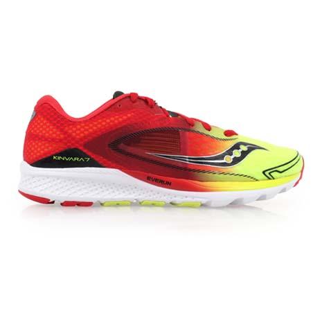 【SAUCONY】KINVARA 7 男自然系列慢跑鞋- 路跑 紅螢光黃