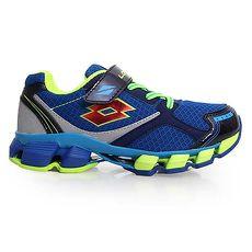 ~LOTTO~男女大童避震慢跑鞋~路跑 童鞋 男童 女童 藍螢光綠