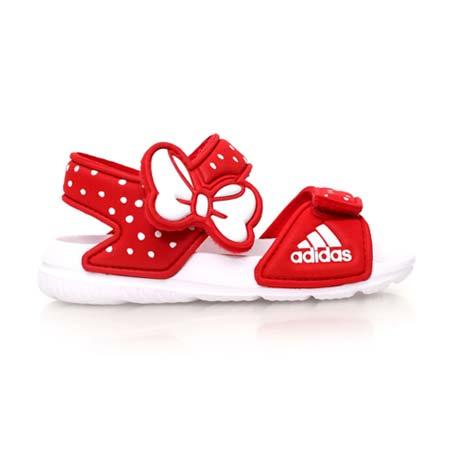 【ADIDAS】DISNEY AKWAH 9 I 女童運動涼鞋-米妮 米奇 紅白