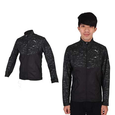 【PUMA】NIGHTCAT 男立領風衣外套- 防風 慢跑 路跑 休閒 運動 黑銀