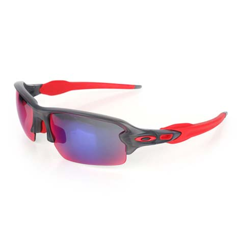 【OAKLEY】FLAK 2.0 太陽眼鏡-附硬盒鼻墊  抗UV 防撞 深灰紅