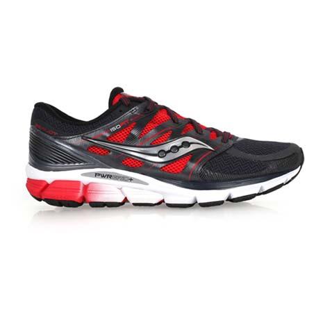 【SAUCONY】ZEALOT ISO 男緩衝避震慢跑鞋- 健身 訓練 黑紅
