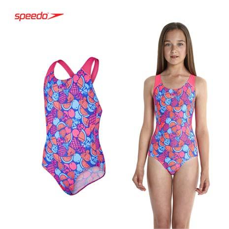 【SPEEDO】女競技連身泳裝-泳衣 游泳 桃紅藍
