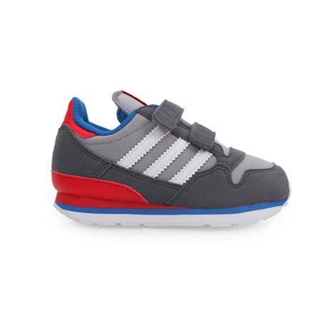 【ADIDAS】ZX 500 CF I男女童慢跑鞋- 童鞋 跑步 灰藍紅