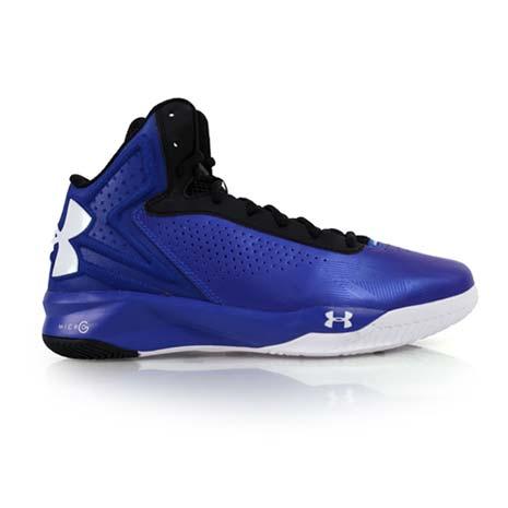 【UNDER ARMOUR】UA 男TORCH籃球鞋- 高筒 寶藍白