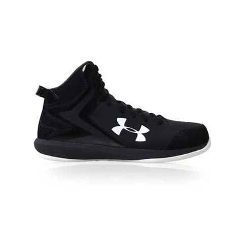 【UNDER ARMOUR】UA 男LOCKDOWN籃球鞋- 高筒 黑白