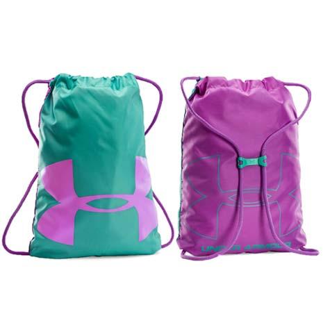 【UNDER ARMOUR】UA 訓練系列輕便鞋袋- 束口袋 後背包 紫湖水綠