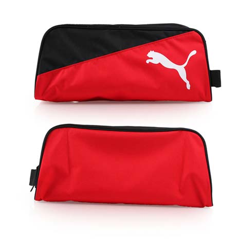 【PUMA】PRO TRAINING鞋袋-手提袋 收納袋 旅行 手拿包 紅黑白
