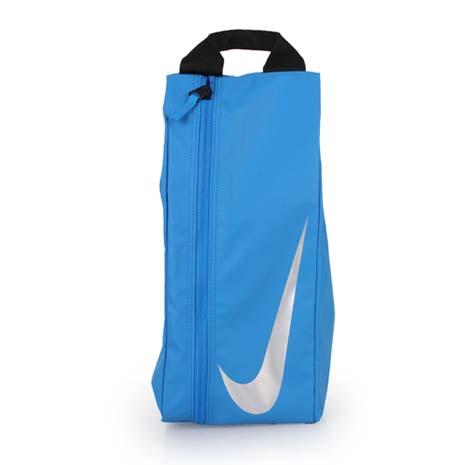 【NIKE】足球鞋袋-旅行 手拿包 手提袋 收納袋 藍銀