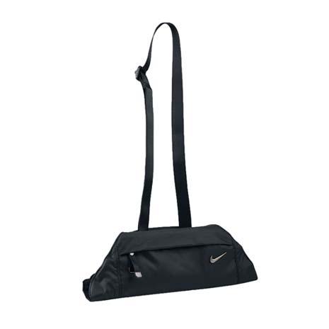 【NIKE】瑜珈揹帶-瑜珈墊 收納包 肩背包 有氧 塑身 地墊 黑