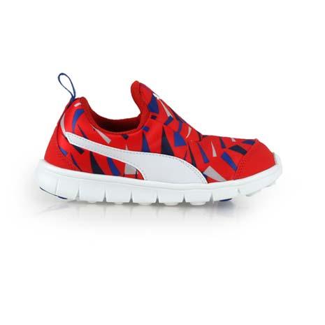 【PUMA】BAO SLIPON GRAPHIC KIDS男女童慢跑鞋 紅藍白