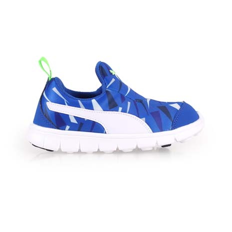【PUMA】BAO SLIPON GRAPHIC KIDS男女童慢跑鞋 藍綠白