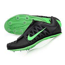 ~NIKE~男田徑釘鞋~ 跳遠 撐竿跳 競賽 訓練 附鞋袋 黑螢光綠