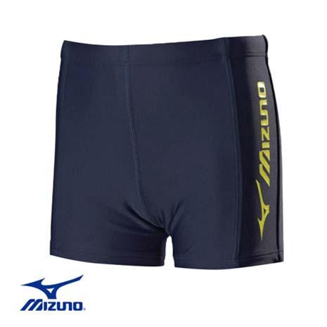【MIZUNO】FITNESS 男童泳褲-兒童  游泳 競賽 美津濃 丈青黃