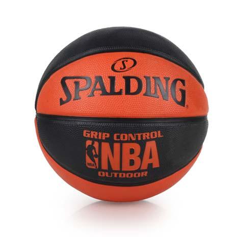 【SPALDING】NBA GRIP CONTROL OUTDOOR戶外籃球 黑橘
