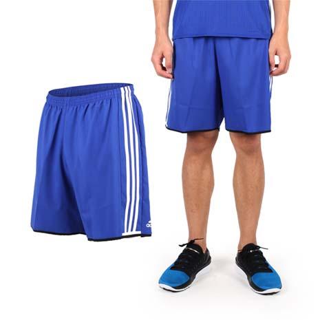 【ADIDAS】男運動短褲-愛迪達 慢跑 路跑 休閒短褲 健身 藍白