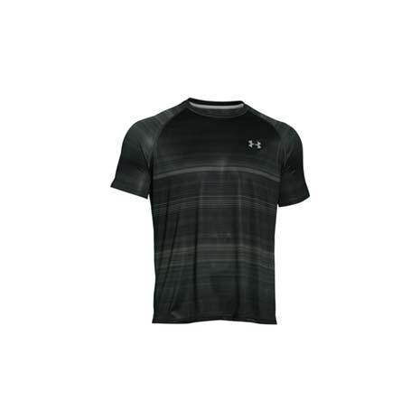 【UNDER ARMOUR】UA HG 男花色短袖T恤-路跑 慢跑 軍綠黑