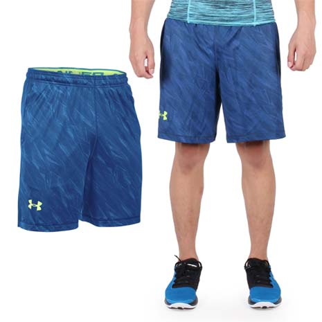 UNDER ARMOURUA HG RAID男8吋短褲深藍螢光綠