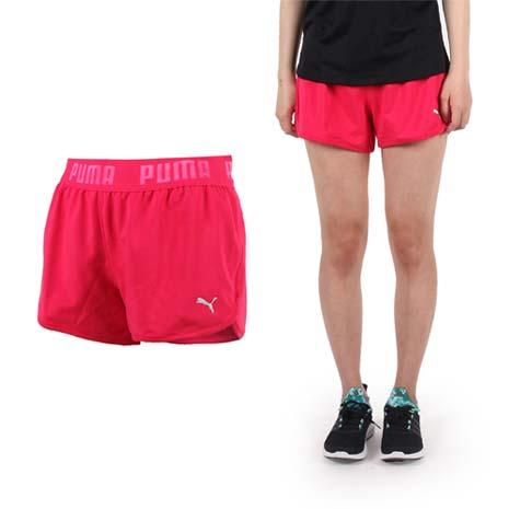 【PUMA】CLEVERDRY棉女短褲-慢跑 路跑 運動 休閒 吸溼排汗 桃紅