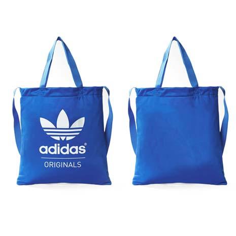 【ADIDAS】復古三葉草側背包-愛迪達 肩背包 托特包 寶藍白