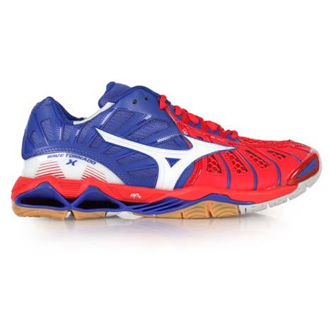 【MIZUNO】WAVE TORNADO X 男排球鞋 藍紅白