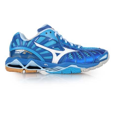 【MIZUNO】WAVE TORNADO X 男排球鞋-美津濃 藍白