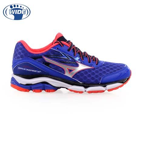 【MIZUNO】WAVE INSPIRE 12 3E女慢跑鞋-路跑 寬楦 寶藍黑銀