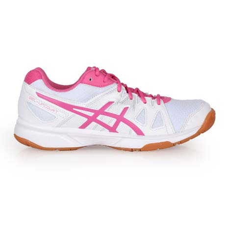 【ASICS】GEL-UPCOURT 女排羽球鞋- 亞瑟士 排球 白桃紅