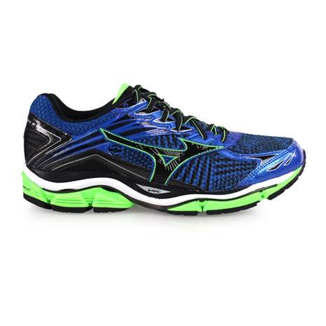 【MIZUNO】WAVE ENIGMA 6 男慢跑鞋- 路跑 美津濃 藍綠黑