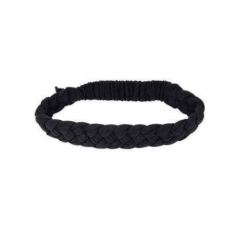 【NIKE】編織頭帶-慢跑 路跑 瑜珈 黑白