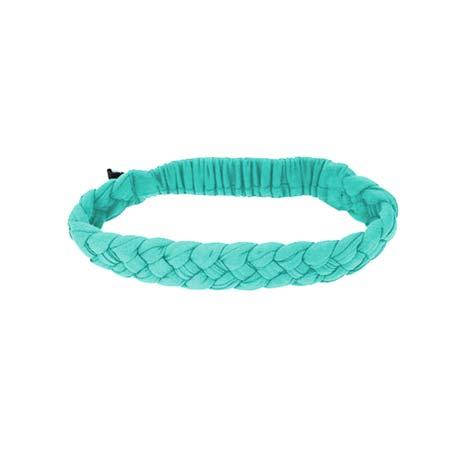 【NIKE】編織頭帶-慢跑 路跑 瑜珈 湖水綠
