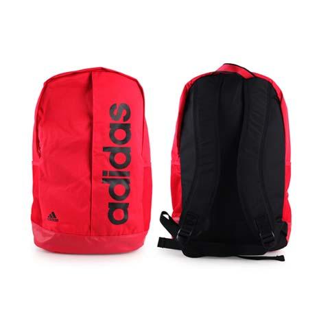 【ADIDAS】運動後背包-雙肩包 肩背包 旅行包 愛迪達 紅黑