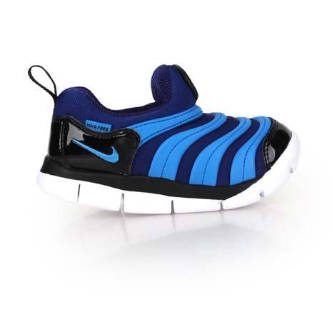 【NIKE】DYNAMO FREE-TD男女小童毛毛蟲鞋-兒童 童鞋 寶藍黑