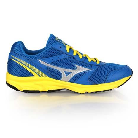 【MIZUNO】WIDE MAXIMIZER 18男慢跑鞋 - 路跑 美津濃 藍黃