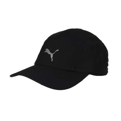 【PUMA】慢跑系列棒球帽 -帽子 路跑 防曬 老帽 鴨舌帽 黑銀