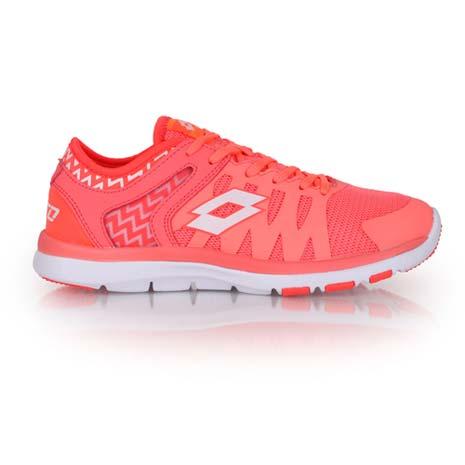 【LOTTO】女慢跑訓練鞋 -路跑 健身 粉橘白