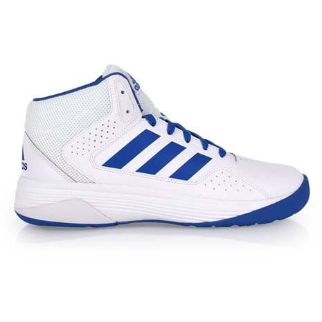 【ADIDAS】CLOUDFOAM ILATION MID 男籃球鞋- 高筒 白藍