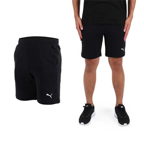 【PUMA】男素色9吋短褲-慢跑 路跑 健身 訓練 黑白