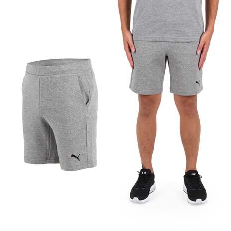 【PUMA】男素色9吋短褲-慢跑 路跑 健身 訓練 灰黑
