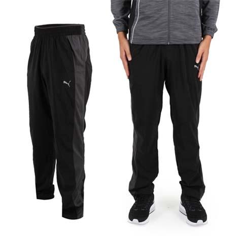 【PUMA】VENT男訓練系列彈性平織運動長褲-路跑 慢跑 健身 黑灰