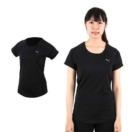 【PUMA】女訓練系列短袖T恤-短袖上衣 短T 路跑 慢跑 健身 黑銀