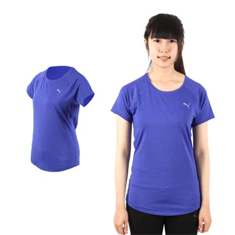 【PUMA】女訓練系列短袖T恤-短袖上衣 短T 路跑 慢跑 健身 紫銀