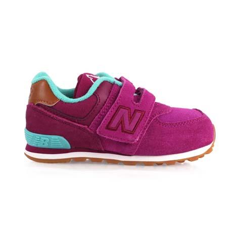 【NEWBALANCE】574 男女兒童休閒鞋-WIDE- 寬楦 NB 紫湖水綠