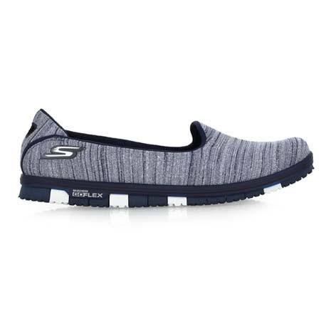 【SKECHERS】GO MINI FLEX 女休閒健走鞋- 輕量 懶人鞋 深藍銀